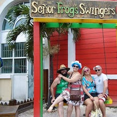 Nassau, Bahamas - Sailing party at Senior Frogs, Nassau