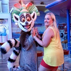 Wife and King Julian near the Aquatheatre