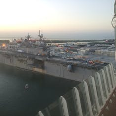 Ft. Lauderdale (Port Everglades), Florida - Helicopter Carrier docked next to us upon return to port