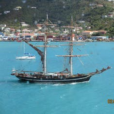 Tortola, British Virgin Islands - Another ship visiting the Island