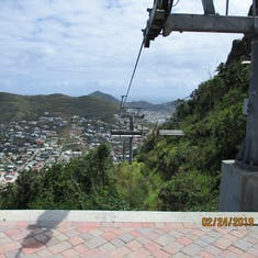 Philipsburg, St. Maarten - Sky ride midway down