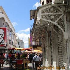 Fort-De-France, Martinique - Typical street with KFC