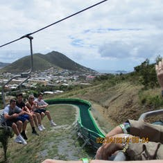 Philipsburg, St. Maarten - Sky ride, them going up