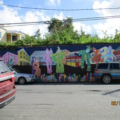 Street painting in St. Croix