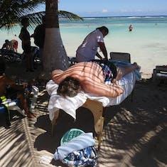 Wonderful beach massage!