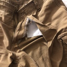"""My poor shorts after the """"Trouser Scrum"""" during the Quest Game Show!"""