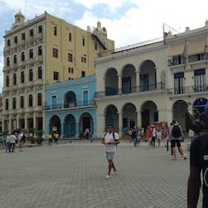 """Historic square and our guide for """"Taste of Havana"""""""