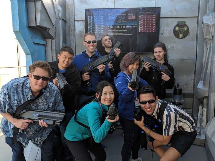 We won our laser tag game! - Norwegian Joy