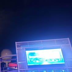 Dive in Movie under a full moon