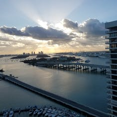 Miami, Florida - View of the cruise port from our hotel