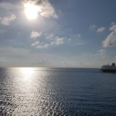 Sister ship at sunset
