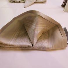 Clam Shell Napkin Origami