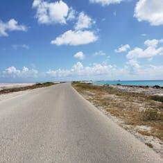 Kralendijk, Bonaire - Salt Pond and Caribbean Sea