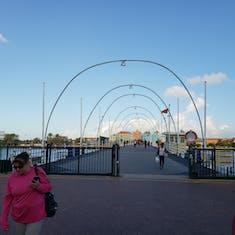 Willemstad, Curacao - Queen Emma Pontoon Bridge Across St Anna Bay