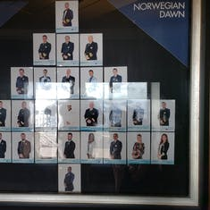 Norwegian Dawn Officers