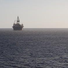 Oil Derrick Seen While Leaving Aruba