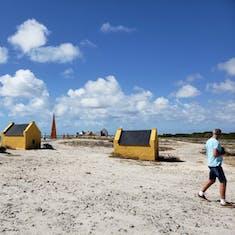 Kralendijk, Bonaire - Orange Slave Huts and Obelisk