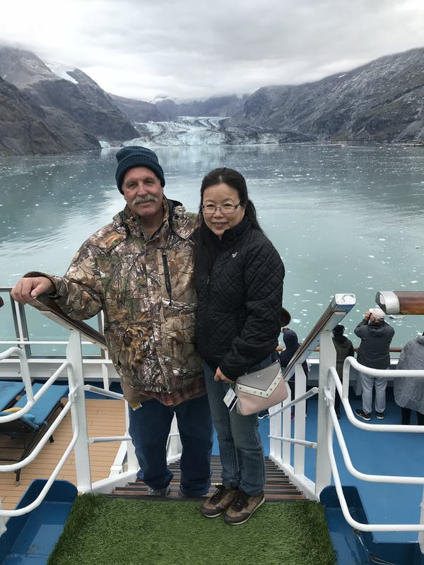 In Glacier Bay, a little chilly but very beautiful. - Carnival Splendor