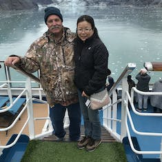 In Glacier Bay, a little chilly but very beautiful.