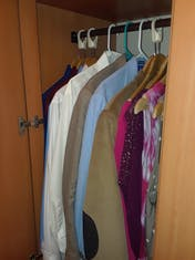 Three closets like this one.