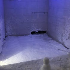 Snow room in the spa