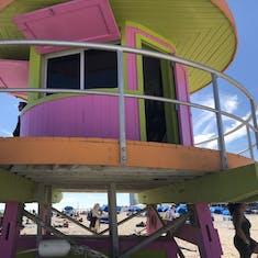 Lifeguard stand on Miami Beach