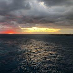 Sunrise off the coast of Great Stirrup Cay