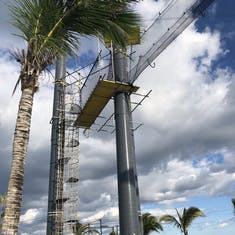 One of the zip line platforms in Great Stirrup Cay
