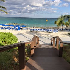 View from one of the cabanas on Great Stirrup Cay