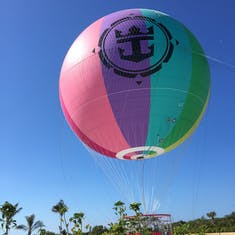 The hot air balloon at Coco Cay