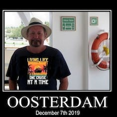 On board the Oosterdam