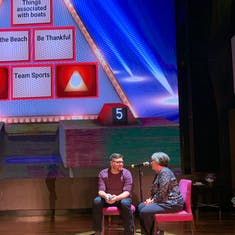Pyramid Game in Atrium NCL Breakaway.