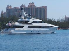 Usher's yacht in Nassau