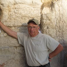 HAIFA (JERUSALEM), ISRAEL - Western Wall---Of King Herod the Great's temple. Only remains now left.