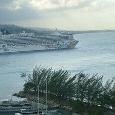 Pearl departing Ocho Rios