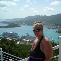 Charlotte Amalie, St. Thomas - View from the top of the Skyride
