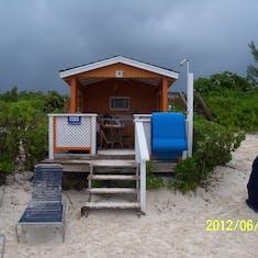Our cabana rental on Half Moon Cay.