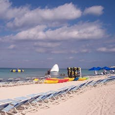 Paradise Beach in Cozumel, Dec. 2005. Ask us how we got free shots!