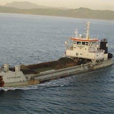 Panama Canal Transit - Tanker waiting to enter the locks