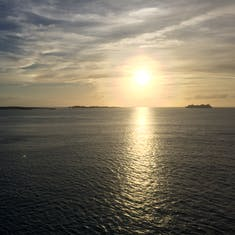 Sunset at Great Stirrup Cay