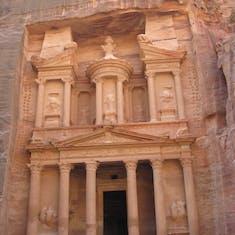 """Aqaba (Petra), Jordan - """"The Treasury"""" in the Ancient City of Petra---Jordan"""