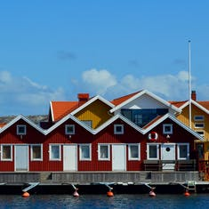 Fishing village, Sweden