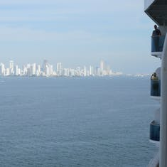 Cartagena, Colombia - Approaching Cartagena, Columbia as seen from our balcony