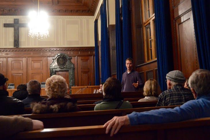 Nuremberg - Tour Guide Inside Courtroom 600 - Viking Jarl