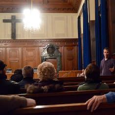 Nuremberg - Tour Guide Inside Courtroom 600