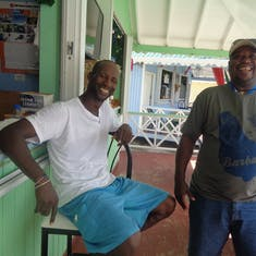 My good golfing buddy in St.Lucia took time from work to have a drink or two