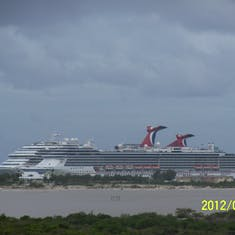 Our ship viewed from the dune buggy.