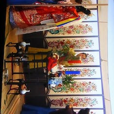 Incheon (Seoul). South Korea - Wedding Party Exhibit at Folklore Museum