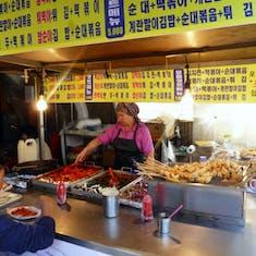 Incheon (Seoul). South Korea - Vendors at outdoor shopping area