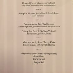 Dinner Menu Page 2